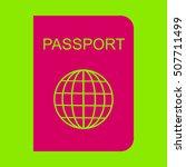 passport icon. | Shutterstock .eps vector #507711499