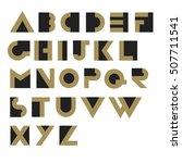 geometric retro alphabet.  art... | Shutterstock .eps vector #507711541