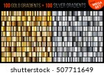 vector mega set of gold and... | Shutterstock .eps vector #507711649