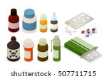 medicine bottles  tablets ... | Shutterstock .eps vector #507711715