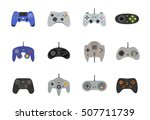 gamepads vector icon set in... | Shutterstock .eps vector #507711739