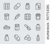 pharmaceutical line icon  | Shutterstock .eps vector #507713281