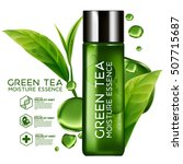 green tea moisture essence skin ... | Shutterstock .eps vector #507715687