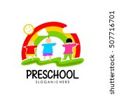preschool  kindergarten logo... | Shutterstock .eps vector #507716701