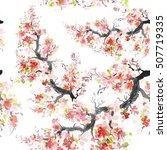 seamless pattern flower of... | Shutterstock . vector #507719335