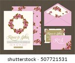 wedding invitation card suite... | Shutterstock .eps vector #507721531