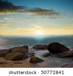 beautiful sunset in tropical... | Shutterstock . vector #50772841