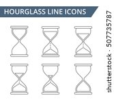 hourglass line icons set ... | Shutterstock .eps vector #507735787