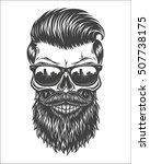 monochrome illustration of... | Shutterstock .eps vector #507738175
