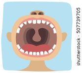 toddler opened his mouth to... | Shutterstock .eps vector #507739705