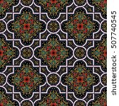 oriental vector pattern with... | Shutterstock .eps vector #507740545