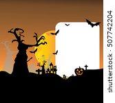 halloween photo frame ghost... | Shutterstock .eps vector #507742204