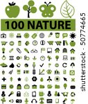 100 cute nature signs. vector | Shutterstock .eps vector #50774665