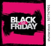 black friday sale banner | Shutterstock .eps vector #507747901