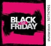black friday sale banner | Shutterstock .eps vector #507747901
