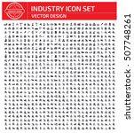 industry icon set clean vector | Shutterstock .eps vector #507748261