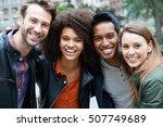 portrait of multi ethnic... | Shutterstock . vector #507749689