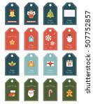 new year 16 labels. festive for ... | Shutterstock .eps vector #507752857