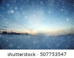 blurred winter background with... | Shutterstock . vector #507753547