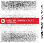 business and finance icon set... | Shutterstock .eps vector #507754321