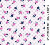 floral pattern | Shutterstock .eps vector #507755041