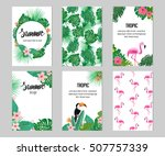 Set Of Six Cards With Tropic...