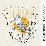fish unicorn illustration with... | Shutterstock .eps vector #507757777