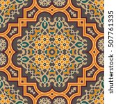 oriental vector pattern with... | Shutterstock .eps vector #507761335