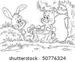 hare and squirrel | Shutterstock . vector #50776324