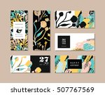 set of abstract creative cards. ... | Shutterstock .eps vector #507767569