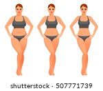 cartoon woman before and after... | Shutterstock .eps vector #507771739