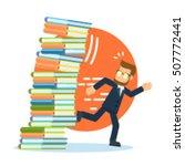 businessman running from... | Shutterstock .eps vector #507772441