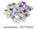 isolated sweet money  chocolate ... | Shutterstock . vector #507774034