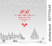 2017 happy new year greeting... | Shutterstock .eps vector #507774145
