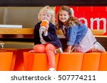 two young happy kids  boy and... | Shutterstock . vector #507774211
