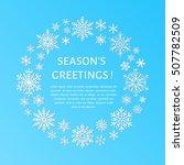 cute snowflake poster  banner....   Shutterstock .eps vector #507782509