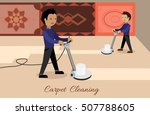 carpet cleaning conceptual... | Shutterstock .eps vector #507788605