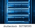 close up of hard drives in data ... | Shutterstock . vector #507789595