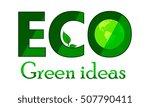 eco logo idea green words and... | Shutterstock .eps vector #507790411