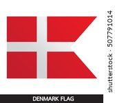 denmark flag design illustration | Shutterstock .eps vector #507791014
