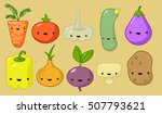 illustration of cheerful and... | Shutterstock .eps vector #507793621