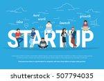 startup concept flat... | Shutterstock . vector #507794035