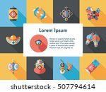 chinese new year icons set | Shutterstock .eps vector #507794614