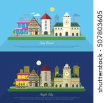 city street vector illustration ... | Shutterstock .eps vector #507803605