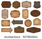 wooden stickers  label... | Shutterstock .eps vector #507804061