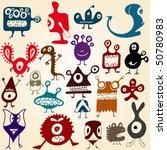 monsters set | Shutterstock .eps vector #50780983
