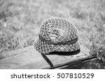 Close Metal Helmet Of Infantry...