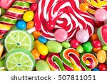 colorful lollipops and... | Shutterstock . vector #507811051