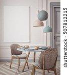 mock up poster with vintage... | Shutterstock . vector #507812215