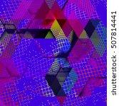 abstract vector background dot... | Shutterstock .eps vector #507814441